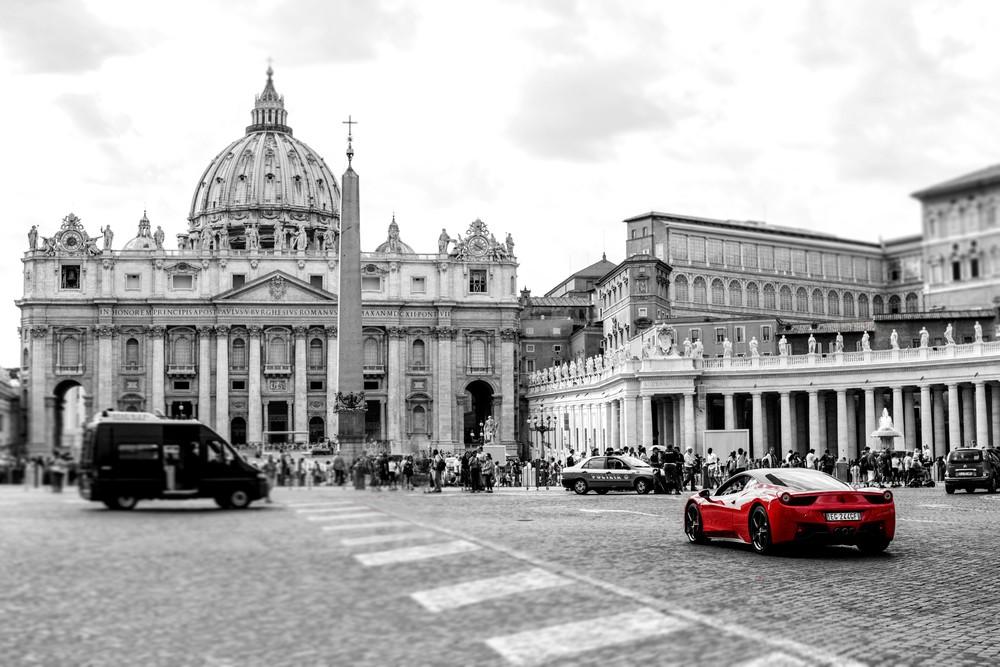 Ferrari at the Vatican print