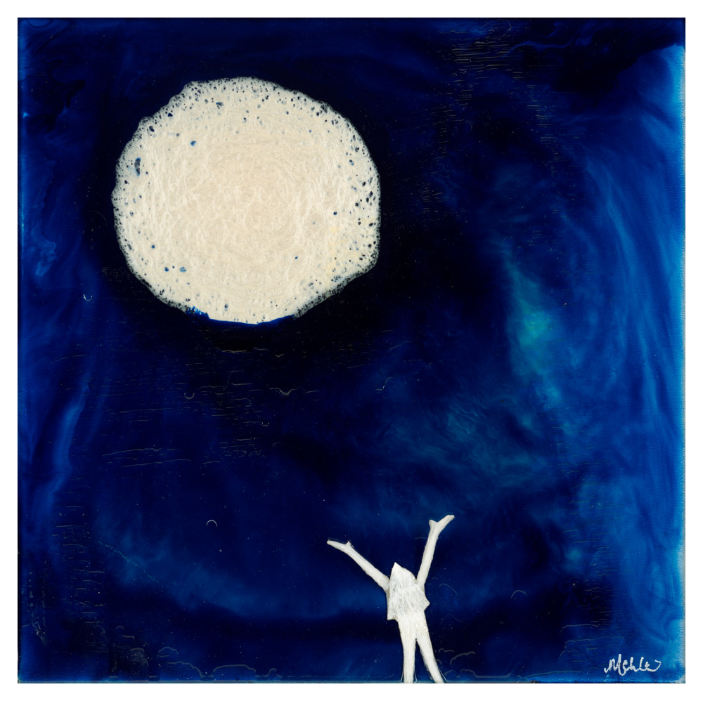Moon Abstract Original Art Print For Sale Online