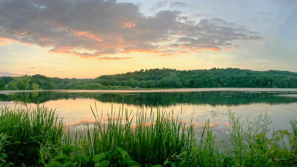 Hanover Pond summer evening sunset