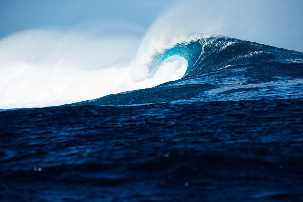 Cloudbreak Beauty, Fiji Surf Print by Brad Scott