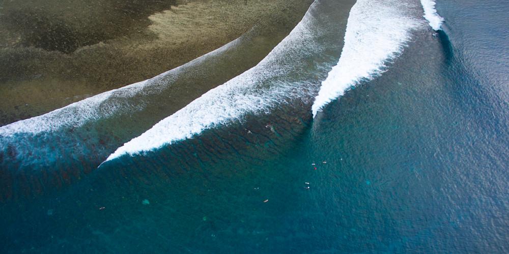 Restaurants Surf Break, Tavarua Fiji Aerial Panoramic Print