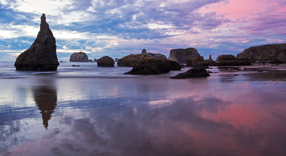 Wizards Hat Sunset, Bandon Beach, Oregon Fine Art Photography Print