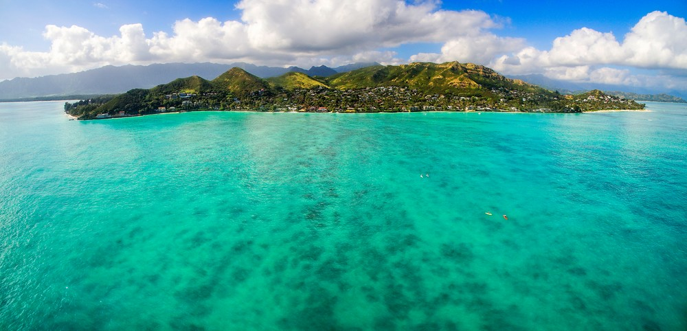 East Shore Oahu by Air, Aerial Photography print by Brad Scott