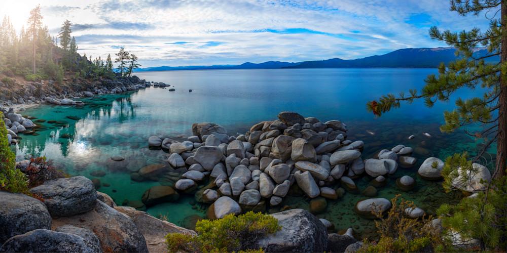 East Shore Aquas, Lake Tahoe Landscape Fine Art Print by Brad Scott