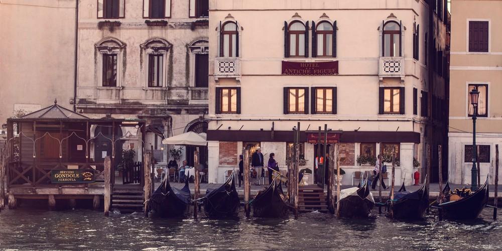 Gondole Ferrovia, Venice Italy Panoramic Print by Brad Scott
