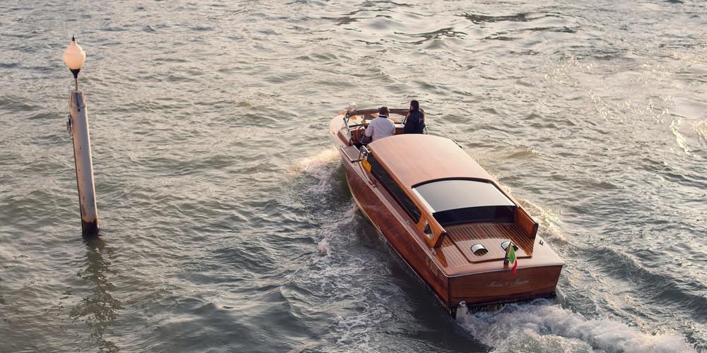 Venice Woody, Boats of Venice Italy Panoramic Photograph by Brad Scott