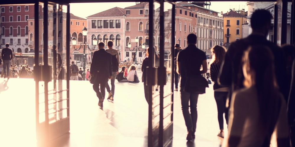 Arriving in Venice, Fine Art Panoramic print by Brad Scott
