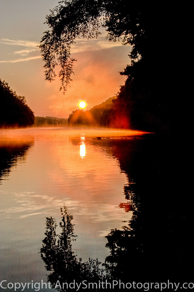 fine art photograph of sunrise on the Scuylkill River
