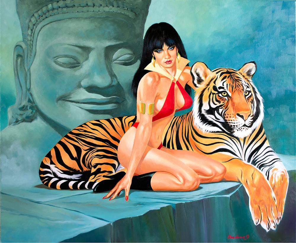 Vamperella with Tiger