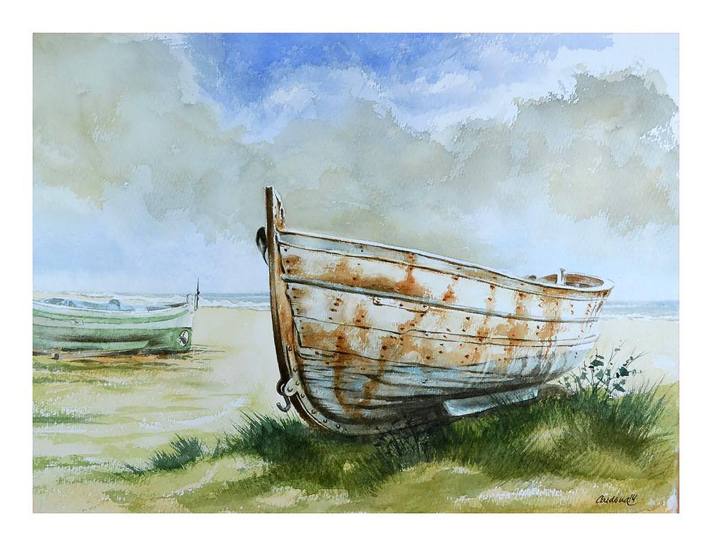 Abandoned Row Boat Art | Pixel Mouse House LLC