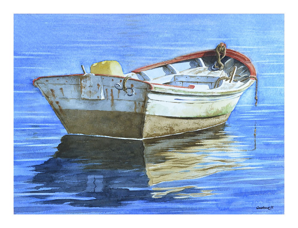 One Boat Adrift Art | Pixel Mouse House LLC