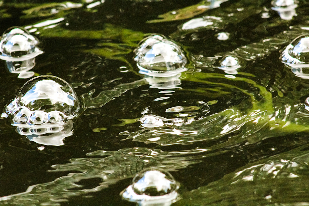 Worlds In A Bubble1-BSouth, water, ripples, bubbles, UK, Oxford, wall art