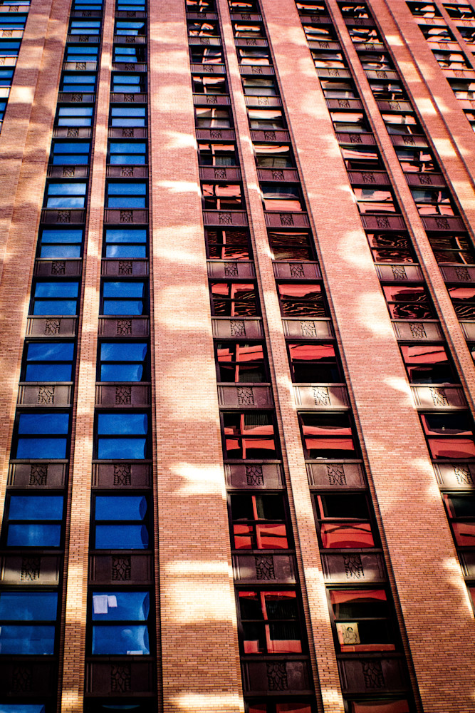 Red Blue and Light-BSouth, Chicago, Magnificent-Mile, wall-art, fine-art