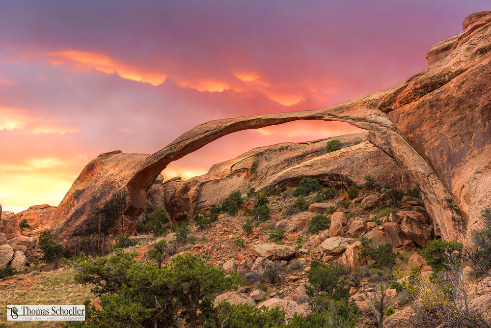 Landscape Arch fine art decor prints/Arches National Park Utah