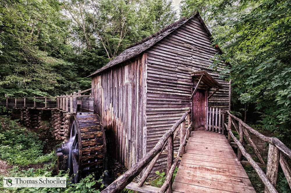 Cable Grist Mill of Cades Cove/Fine art photography prints for sale/by Thomas Schoeller