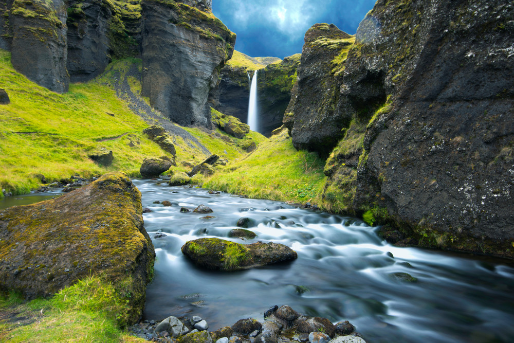 Journey to The Falls Iceland Photography Print