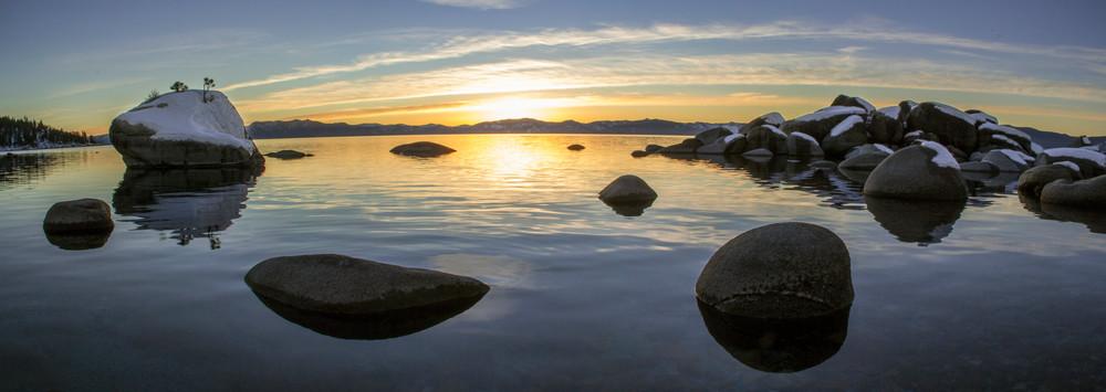 Bonsai Rock Winter Panoramic photo print