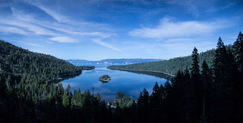 Emerald Bay Stardust, Lake Tahoe Photography Art Print