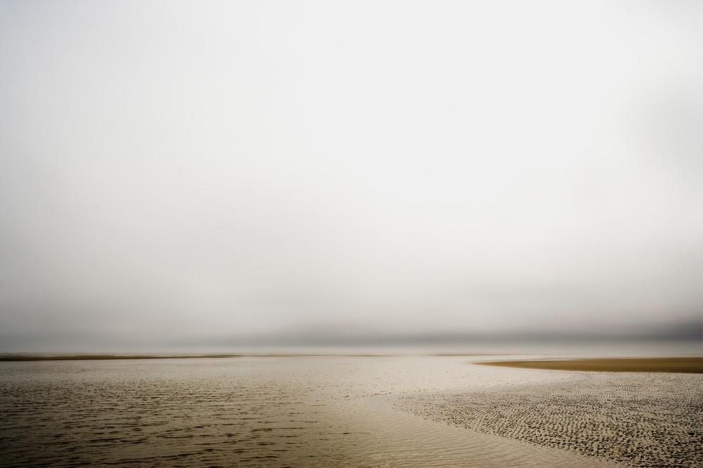 afternoon low tide beach art print