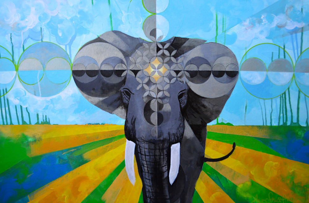 Elephant Power Mandala: Silver Edition Art | Gnarwhal Designs