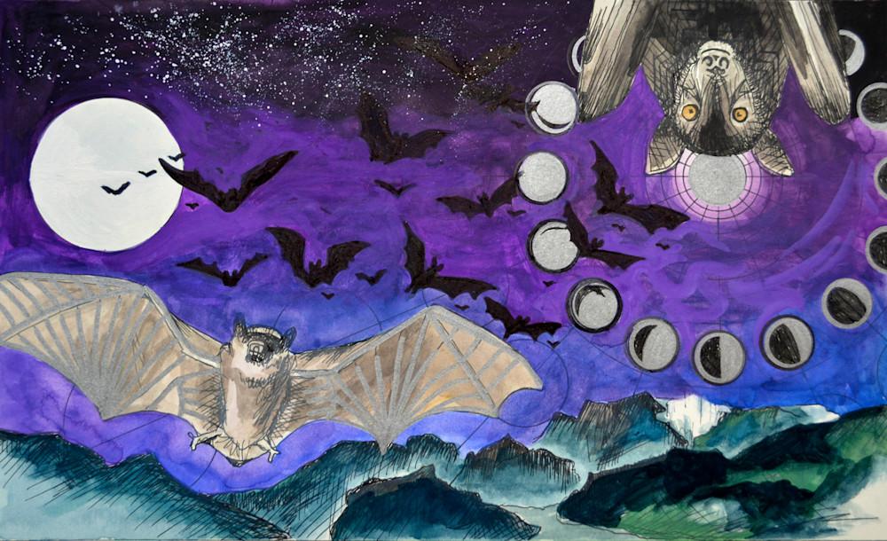 Bats! Art | Gnarwhal Designs