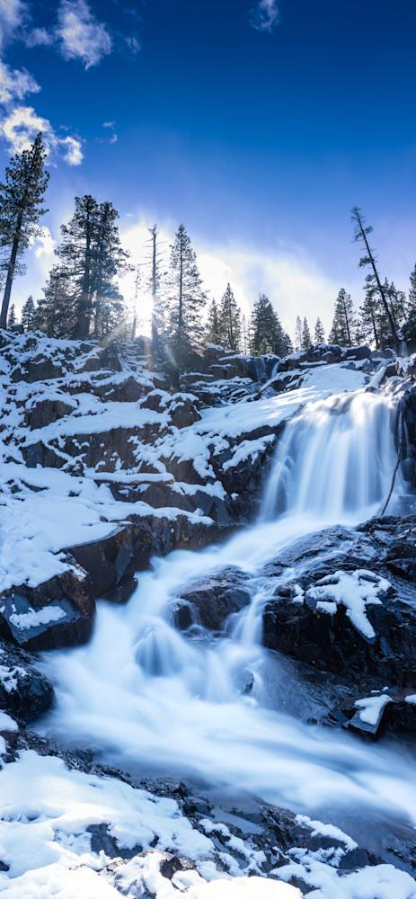 Snowy Falls , Lake Tahoe Winter photo print