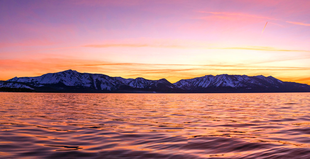 Sunset on Lake Tahoe Photo Art Print