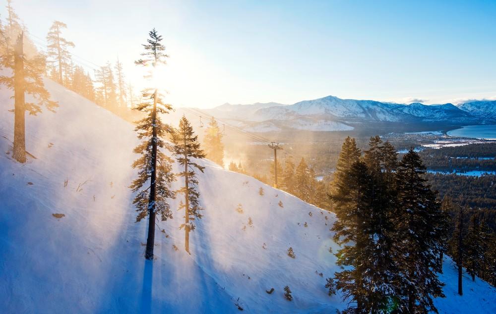 Gunbarrel Rays, Heavenly Ski Resort Lake Tahoe Photo Print
