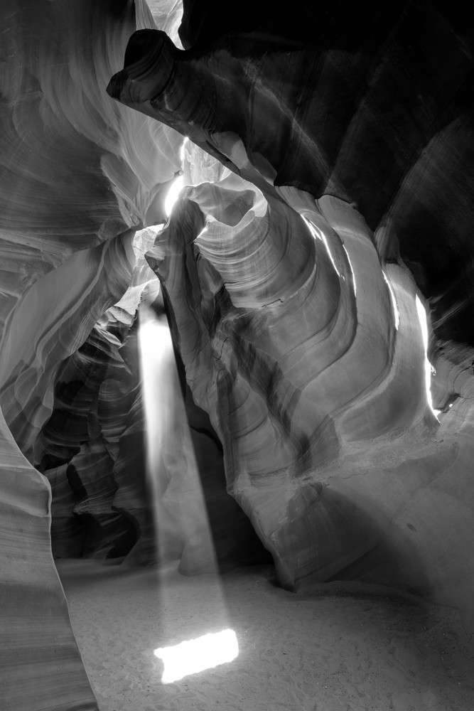 Heart Chamber black & white, Arizona Slot Canyons Fine Art Print