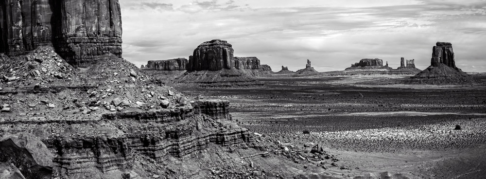 Monument Valley Mesas Panorama photo print