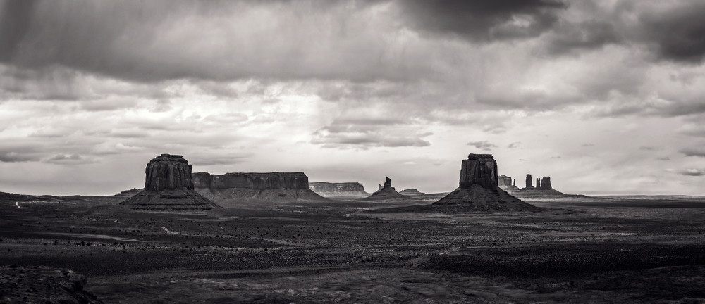 Monument Valley Mittens Panorama photo print