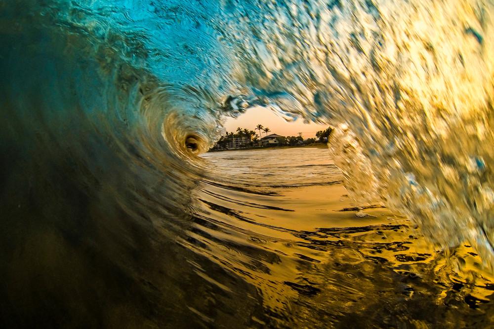 Fire & Ice Wave Photo, Maui Hawaii Fine Art Print