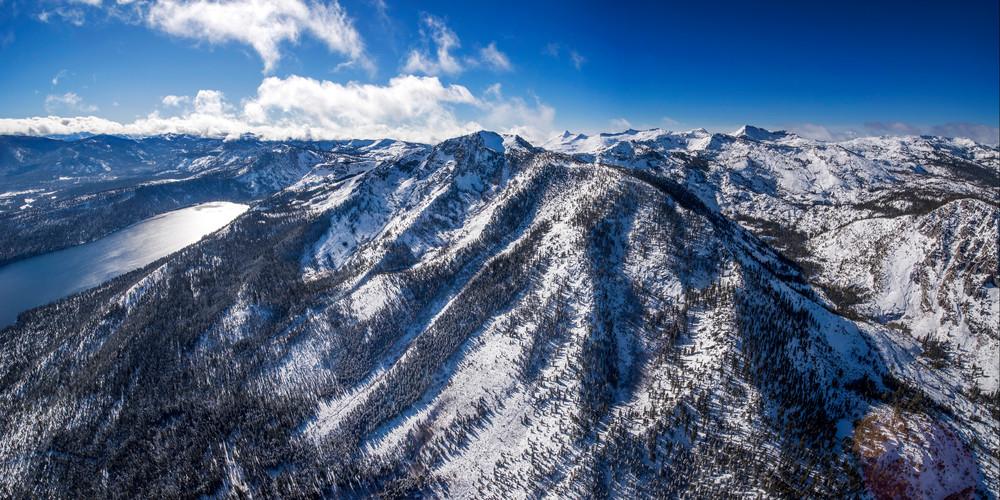 Mt Tallac Winter Aerial, Lake Tahoe Fine Art Photo Print