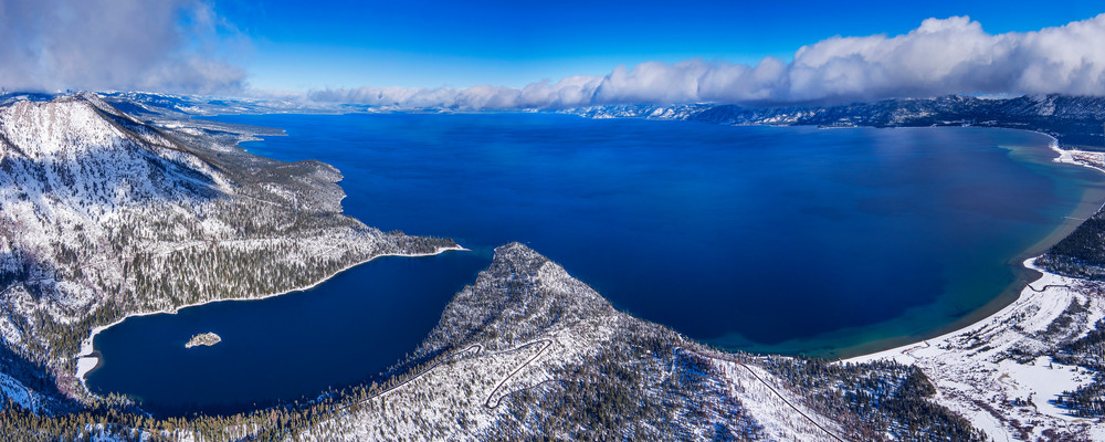 Winter In Tahoe Aerial - Limited Edition Lake Tahoe Fine Art Print