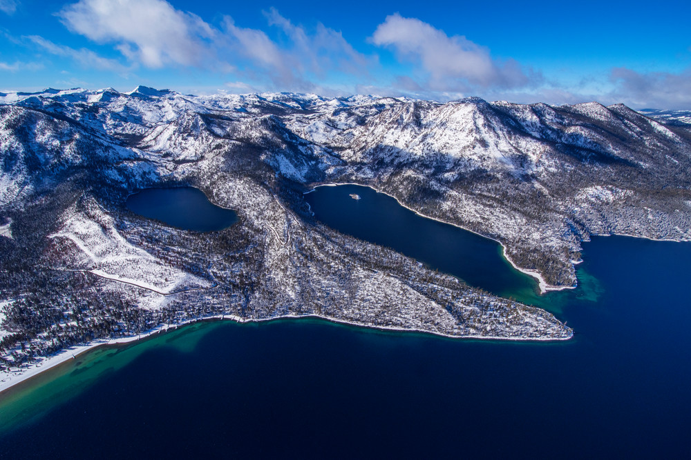 Emerald Bay Gem - Lake Tahoe Aerial Photography print