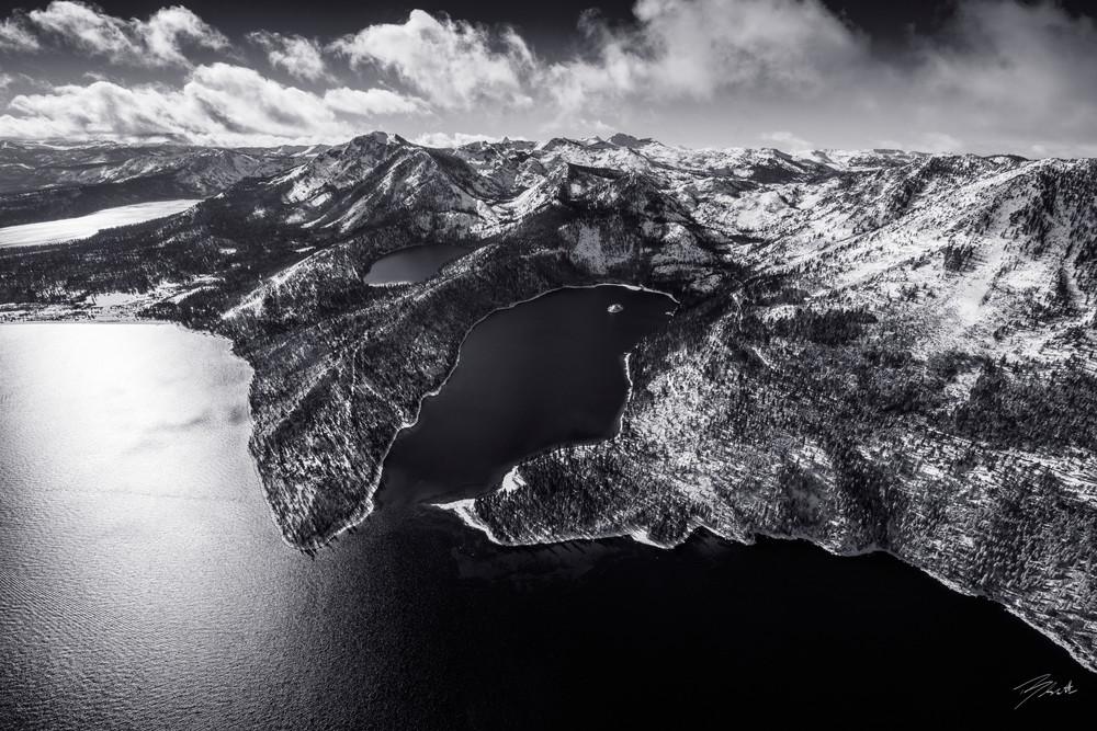 Limited Edition Emerald Bay Lake Tahoe Photo Print - Black Emerald