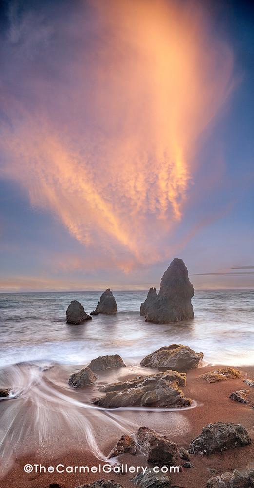 Sunset over Sea Stacks