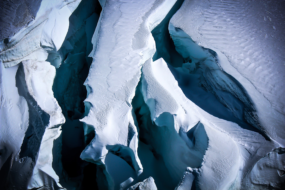 Blue Crevasse-BSouth, Fox-glacier, New-Zealand, glacier