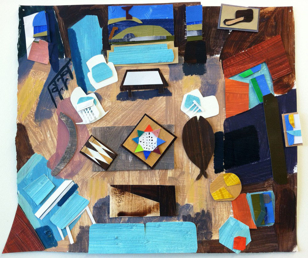 Salter's Point Living Room by Katharine Morrill an American mixed media artist.