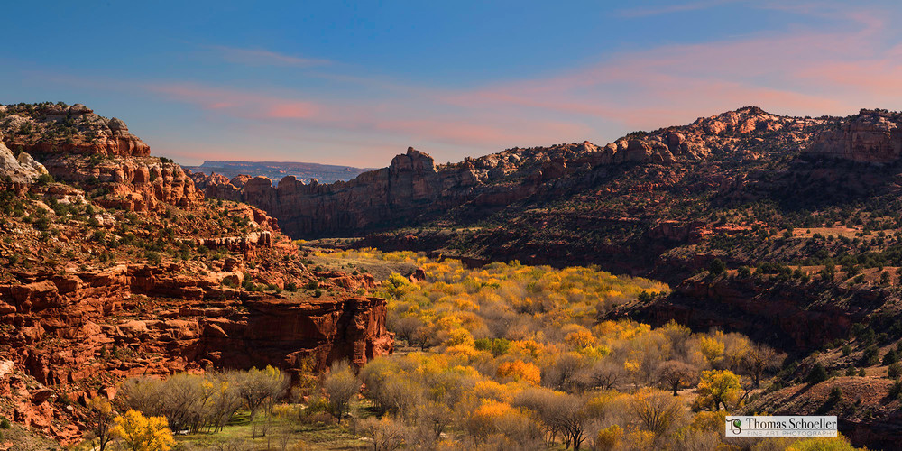 Utah's Escalante Canyon/Wide Aspect ratio prints perfect for decorating large spaces