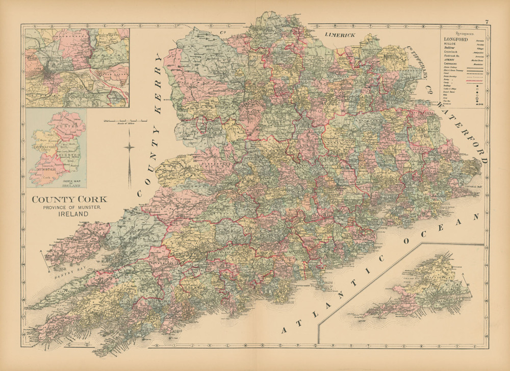 Map Of County Cork Art | Frame Center