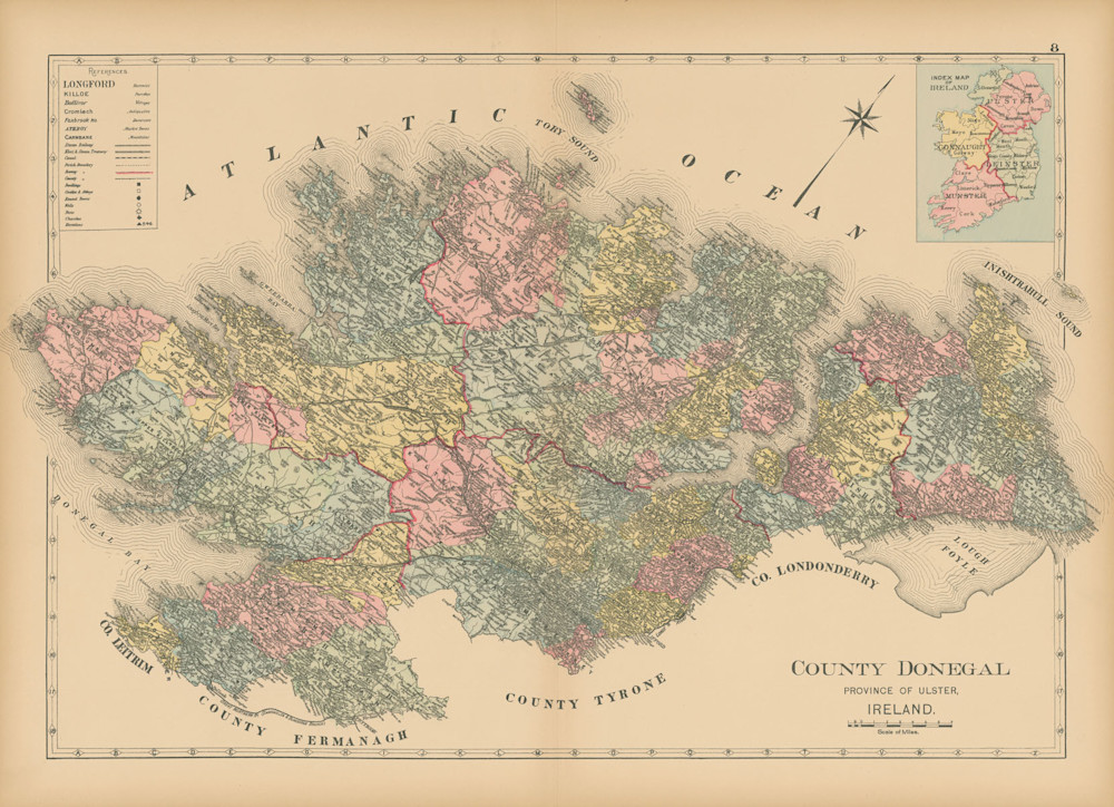 Map Of County Donegal Art | Frame Center