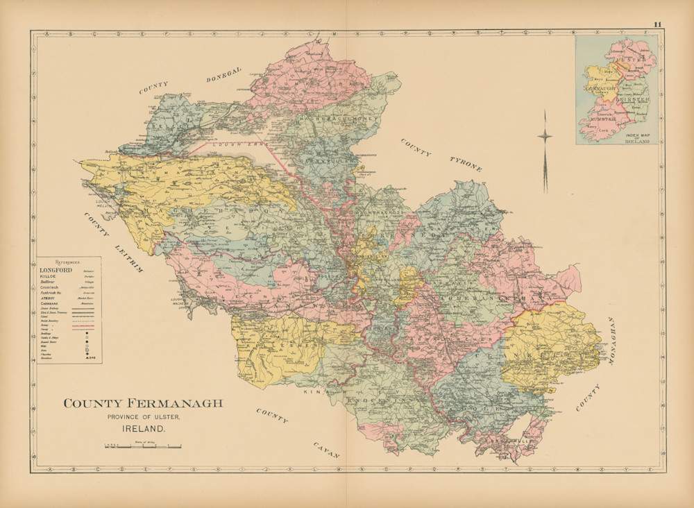 Map Of County Fermanagh Art | Frame Center