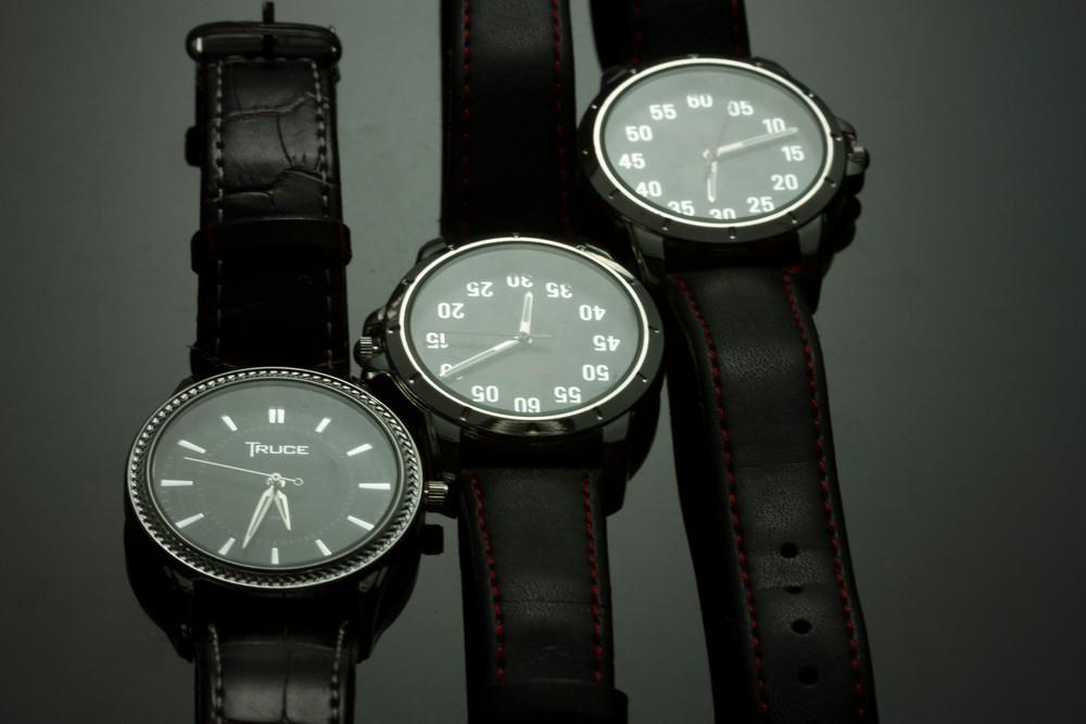 Fine Art Photograph of  Watches on Black Plexi by Michael Pucciarelli