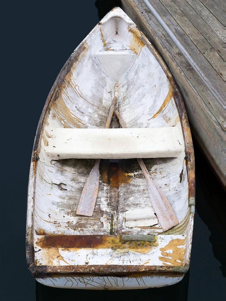 Bar Harbor Skiff I, Large Vertical Rowboat Photograph, Boat Photography Print by Katherine Gendreau