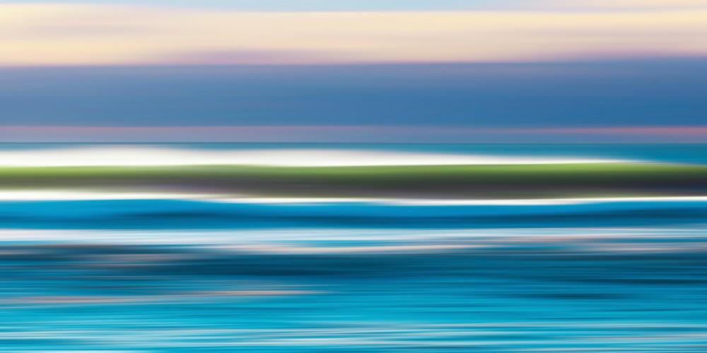 """Sunrise Waves"" - Original Martha's Vineyard Abstract Ocean Art"