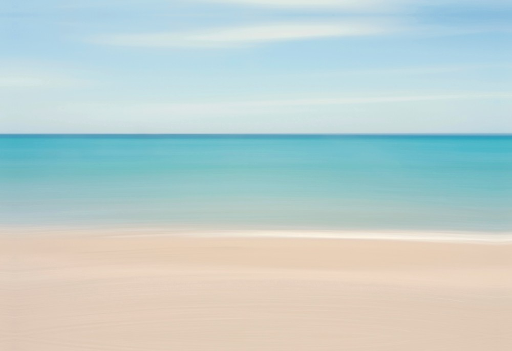 """Caribbean Feeling"" - Soothing Abstract Coastal Art"