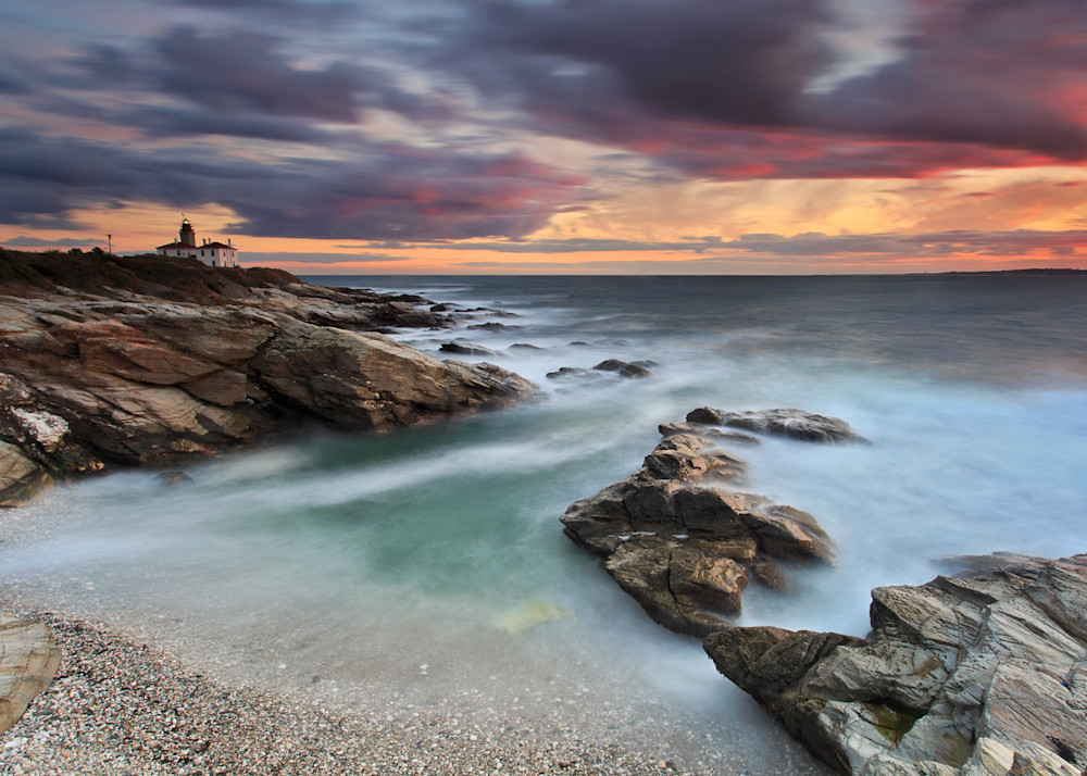 """October Light"" - Fine art Rhode Island lighthouse photograph"