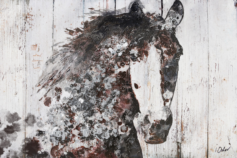 Gorgeous Horse, Equestrian Rustic Wall Art, Textured Decorative Horse Art, Farm House Wall Decor. Irena Orlov Horses.