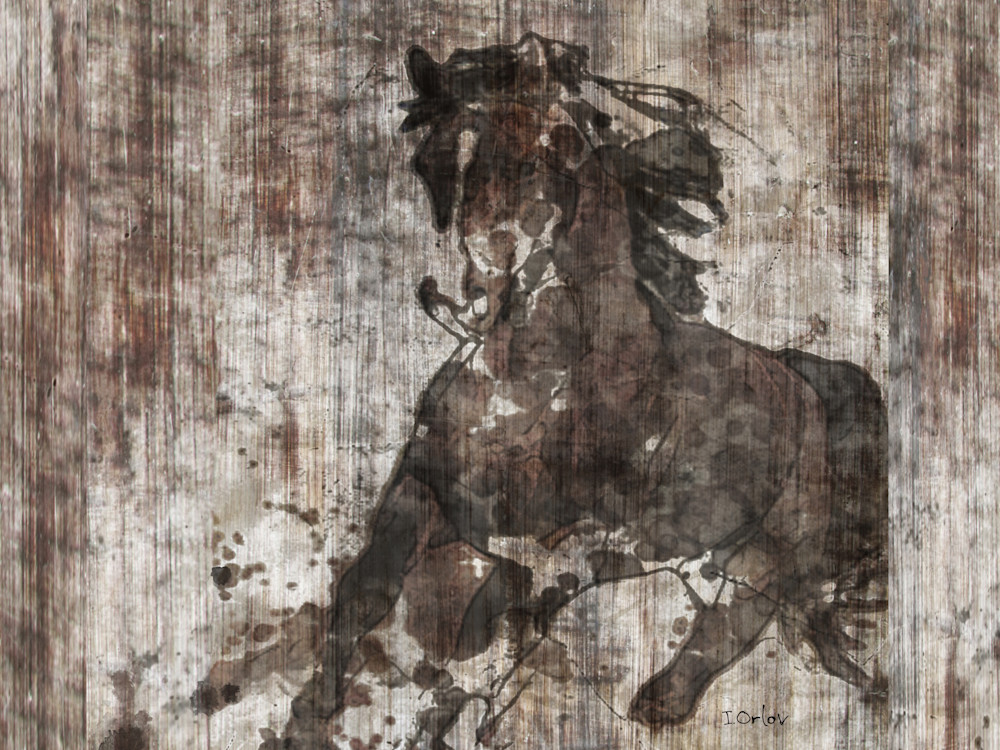 Great Selection Of Horses Artworks Running Horse Equestrian Rustic Wall Art Textured Decorative Horse Art Farm